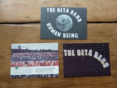 The Beta Band - Promotional Postcards And Sticker • 4£