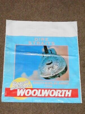 Dire Straits  Brothers In Arms  1985 Woolworths Records & Tapes Carrier Bag • 20£