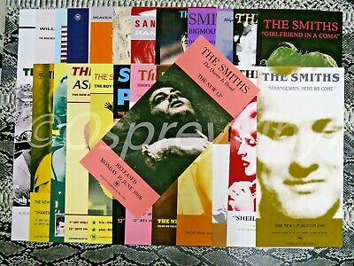 The Smiths Morrissey Rough Trade 25 Promo Posters All Mint All 16  Tall • 49.99£