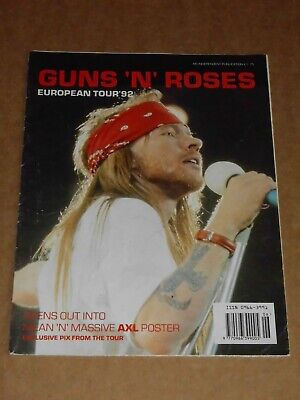 Guns 'N'  Roses  European Tour '92  Poster Magazine  • 6£