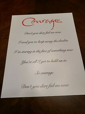 Celine Dion VIP Courage Tour 4 Collectible 8×10's, It's In Tour Folder,cardboard • 11.17£