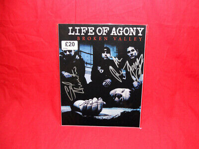 SALE Metal/Rock  Life Of Agony  Multi Signed 10x8 Photo • 19.99£