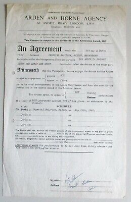 Jerry Lee Lewis & The Echoes.original Concert Contract.imperial Ballroom. Uk1962 • 50£
