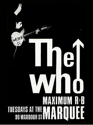 The Who Marquee 16  X 12  Photo Repro Concert Poster • 5.50£