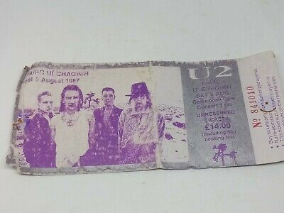 U2 - Pairc Ui Chaoimh, Cork Saturday 8 August 1987 Concert Ticket Stub Vintage  • 4.99£