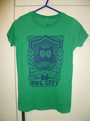 Owl City - New Original  European Tour 2010  Green Ladies T-shirt (m)  • 7.99£