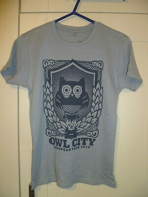Owl City - New Original  European Tour 2010  Light Grey Ladies T-shirt (m)  • 7.99£