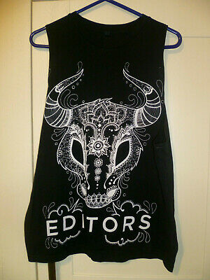 Editors - Original  Ornate Bull  Black Vest (m) • 7.99£
