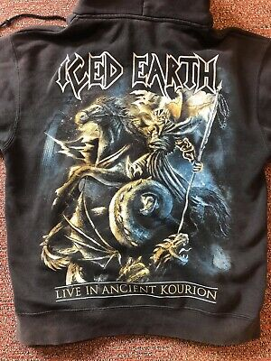 ICED EARTH HOODIE LIVE IN ANCIENT KOURION, GOOD CONDITION (Medium) • 6.50£