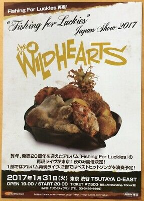 The Wildhearts Fishing For Luckies Japan Show 2017 Flyer Japan Import • 5£