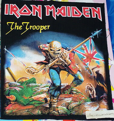 Iron Maiden, The Trooper Design, Large Back Patch, Rock, 2011 Official Used • 5£