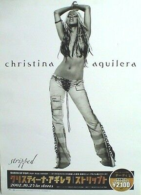 CHRISTINA AGUILERA  STRIPPED  JAPAN PROMO POSTER FROM 2002 - Showing Belly! • 23.16£