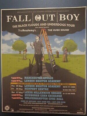 Fall Out Boy 2006 Tour  Original Tour Press Advert Clipping 2006 Music Gigs Band • 2.49£