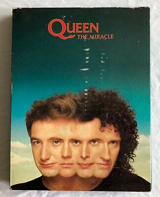 QUEEN -The Miracle- Ultra Rare UK Promo Box Set With Sampler Tape, CD, Booklet.. • 350£