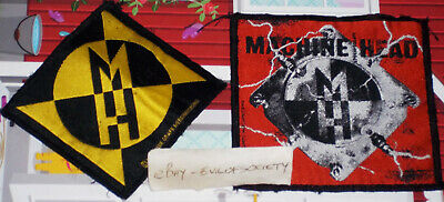 Machine Head, Supercharger Design Logo Design Metal 2 Patches Sew On Joblot Used • 5£