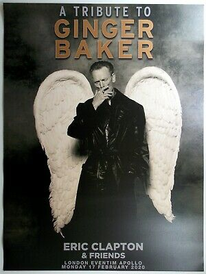 Tribute To GINGER BAKER Official Lithograph 17/02/20 Hammersmith CREAM / CLAPTON • 20£