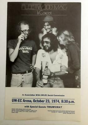 Vtg Org 1974 Poster Print Fleetwood Mac In Concert Eau Claire Wisconsin • 7.18£
