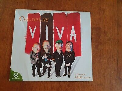 Coldplay - Official 2010 16 Month Calendar - Rare • 2£