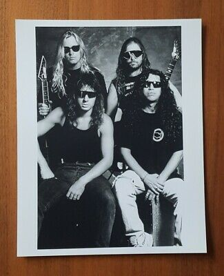 Slayer Band Black And White Photograph June 1992, 25x20cm • 5.99£