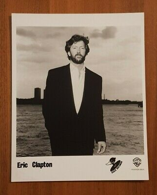 Eric Clapton 1980s Photo, Warner Bros. 25x20cm • 4.99£