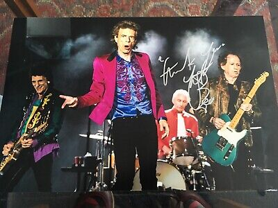 Charlie Watts Signed Rolling Stones Photo 12x8  • 29.99£
