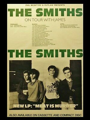 The Smiths MEAT IS MURDER TOUR 16  X 12  Photo Repro Tour Poster • 5.50£