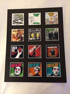 Green Day 14  By 11  Lp Discography Covers Picture Mounted Ready To Frame • 15.99£