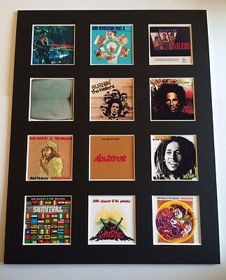 Bob Marley 14  By 11  Lp Discography Covers Picture Mounted Ready To Frame • 15.99£