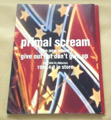 Primal Scream - Give Out But Don't Give Up Japanese Press Kit In Folder • 14.99£
