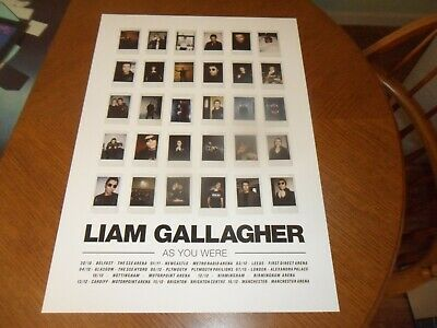 Liam Gallagher Oasis  As You Were Promo Tour Poster Mint • 17.99£