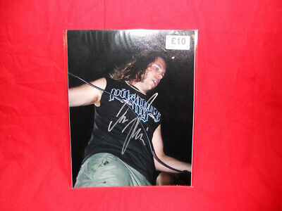 SALE Metal/Rock  Unearth  Trevor Phipps Signed 10x8 Photo MR23 • 14.99£