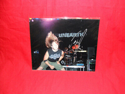SALE Metal/Rock  Unearth  Trevor Phipps Signed 10x8 Photo MR24 • 14.99£