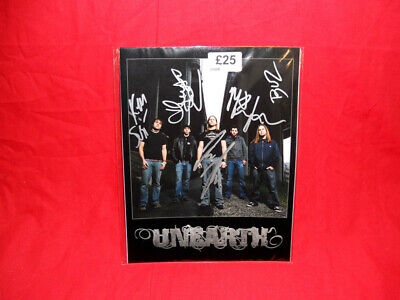 SALE Metal/Rock  Unearth  Multi Signed 10x8 Photo MR25 • 24.99£