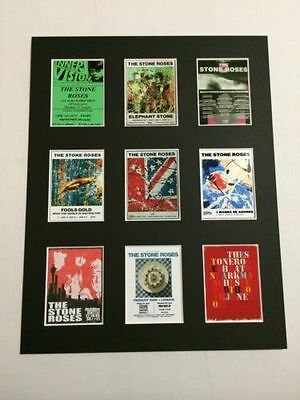 Stone Roses Retro Tour Posters 14  By 11  Picture Mounted Ready To Frame • 15.99£