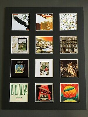 Led Zeppelin Discography 14  By 11  Lp Covers Picture Mounted Ready To Frame • 15.99£