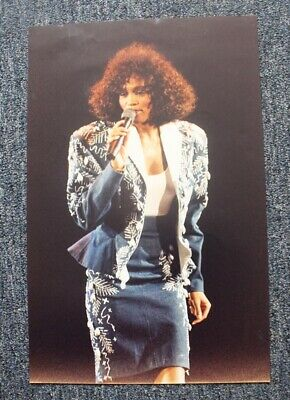 Whitney Houston Large Color Performance Photograph 12 X 18.5 Inches • 7.71£