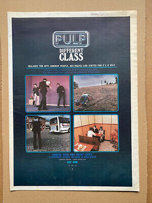 PULP DIFFERENT CLASS POSTER SIZED Original Music Press Advert From 1995  - Print • 11£