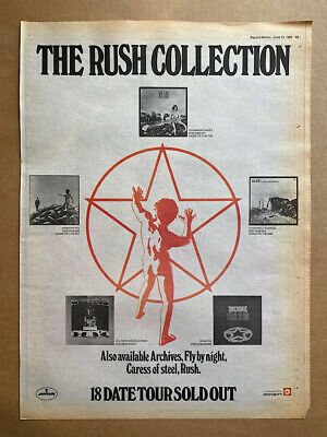 RUSH THE RUSH COLLECTION POSTER SIZED Original Music Press Advert From 1980 (age • 11£