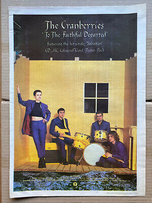 CRANBERRIES TO THE FAITHFULLY DEPARTED POSTER SIZED Original Music Press Advert  • 11£