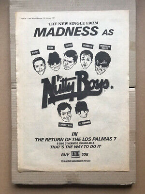 MADNESS RETURN OF THE LOS PALMAS 7 POSTER SIZED Original Music Press Advert From • 13£