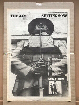 JAM SETTING SONS (A) POSTER SIZED Original Music Press Advert From 1979 With Tou • 11£