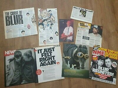 Blur Press Newspaper Magazine Clippings Cuttings Brit Pop Damon Albarn Coxon • 9£