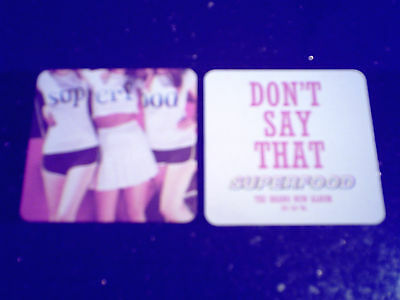 SUPERFOOD - DON'T SAY THAT (2 X PROMO DRINKS COASTERS) • 1.49£