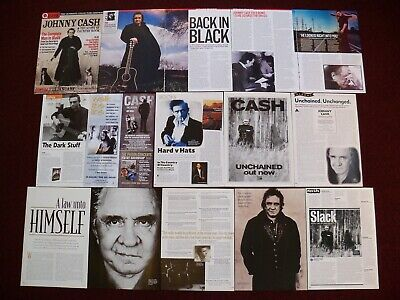 Johnny Cash Clippings - Boy Named Sue - I Walk The Line - Unchained San Quentin • 2£