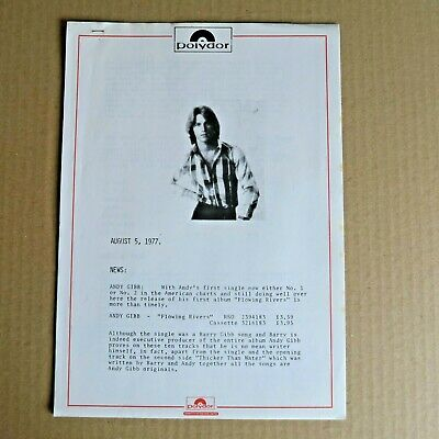 Andy Gibb Bee Gees 2 Different Radio DJ Promo Documents Jean Michelle Jarre More • 4.99£