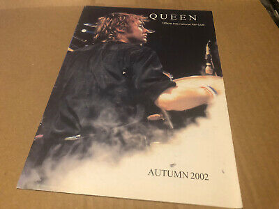 Queen Autumn 2002 Original Fanclub Magazine (back Issues) • 3.25£