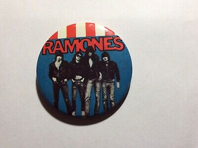 The Ramones Original Vintage 1970`s Punk/New Wave Large Dustbin Style Pin Badge • 4.90£