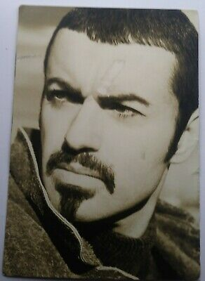 George Michael Original Promo Postcard 1996 Promoting The Spinning The Wheel Ep • 1.99£