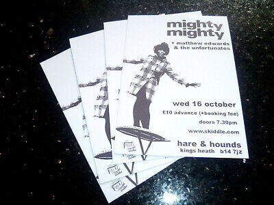 MIGHTY MIGHTY (NME C86) - UK TOUR 2019 (4 X PROMO SHOW CARDS) • 1.49£