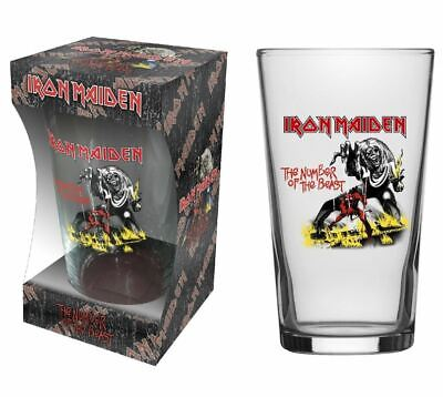 Iron Maiden Number Of The Beast Beer Glass (rz) • 10.99£
